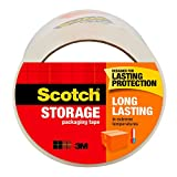 Scotch Long Lasting Storage Packaging Tape, 1.88' x 54.6 yd, Designed for Storage and Packing, Long Lasting Adhesive in Extreme Hot/Cold Conditions, 3' Core, Clear, 1 Roll -3650