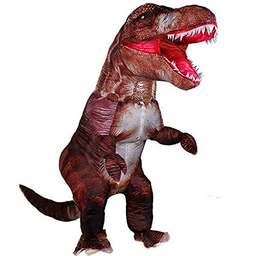 Dinosaur Inflatables Costume for Adult Blow up T-rex Costumes Funny Dino Halloween Costume