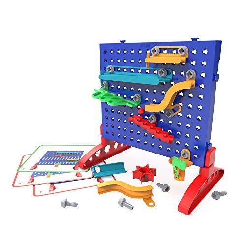 Learning Resources- Laberinto Design & Drill, Juguete de construcción para desarrollar la motricidad Fina, Circuito de canicas, Multicolor (EI-4105)