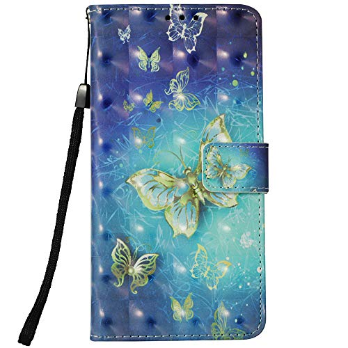 for LG Aristo 2 Case, LG Tribute Dynasty Case,LG K8 2018 Case,LG Zone 4 Case,LG Aristo 2 Plus Case,LG Fortune 2 Case,Voanice Wallet Card Slots Holder Kickstand PU Leather Cover&Stylus-Blue Butterfly