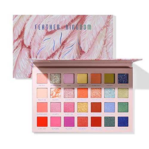 Eyeshadow Palette 28 Colors High Pigmented Matte Shimmer Glitter Pressed Pearl Eyeshadow Makeup Pallet, Smooth Blendable Long Lasting Eyes Shadow Make Up Pallet Set