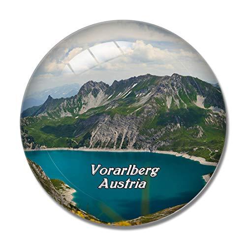 Vorarlberg Luenersee Österreich 3D Kühlschrankmagnet Whiteboard Magnet Souvenir Kristallglas