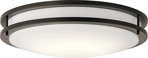 """high quality Kichler Lighting 10788OZLED LED Flush Mount from online The high quality Avon Collection, 24"""", Olde Bronze outlet sale"""