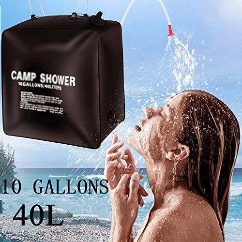 Solar Camping Shower Bag 10Gallons/40L Portable Camping Shower Bag for Camping Traveling Hiking Beach Swimming