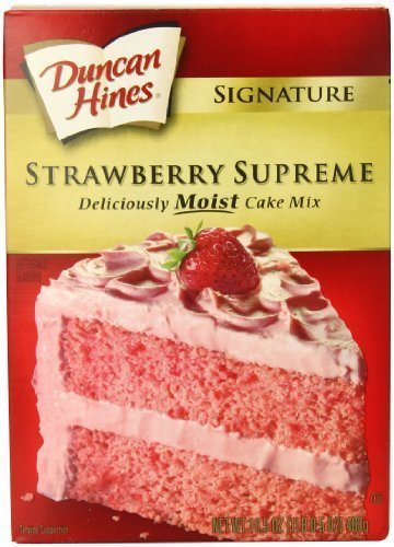 Duncan Hines Signature Moist Cake Mix - Strawberry Supreme - 16.5 oz - 2 Pack