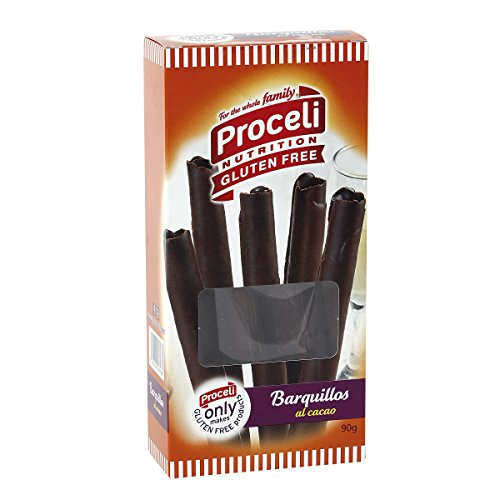PROCELI - Barquillos Al Cacao Sin Gluten Caja 90 Gr