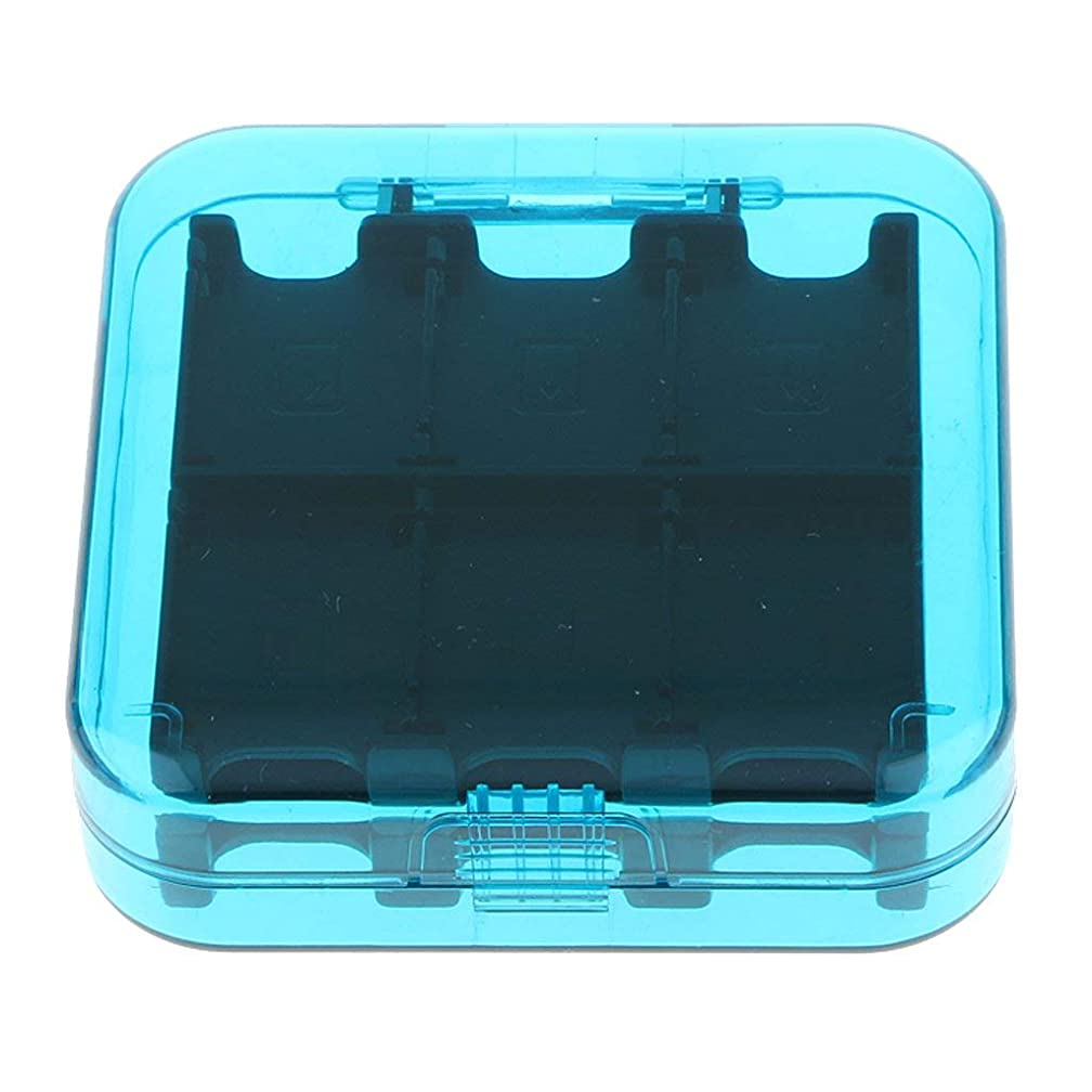 24 Slots Protective Game Memory Card Case Memory Card Holder Storage Box Fit for Nintendo Switch (Blue)