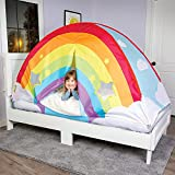 GOOD BANANA Kids' Rainbow Bed Tent for Twin Beds, Ventilated Indoor Play Tent, Magical...