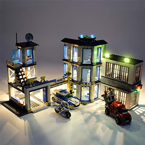 HLEZ USB Juego de Luces de para Comisaría de Policía de La Ciudad Modelo de Bloques de Construcción, Kit de luz LED Compatible con Lego 60141 (Modelo Lego no Incluido)
