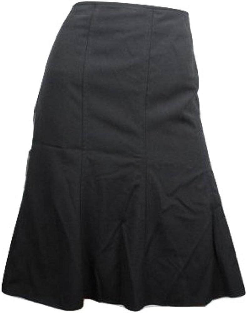 AGB Women's Plain Weave Skirt A-line Skirt Black Size 12