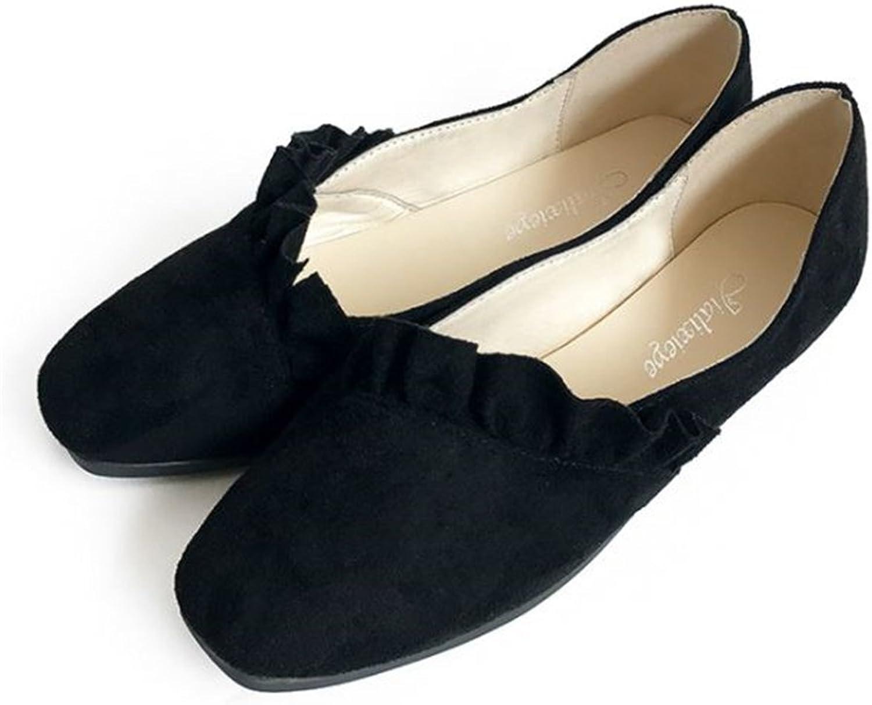 Bon Soir Low Heel Flat shoes,Women Belt Flat Heel Squared Toe Casual Office shoes
