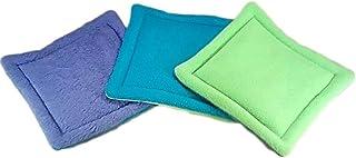 Reusable Potty Pads - Set of 3 - Purple Blue Green - 3 Sizes - Machine Wash