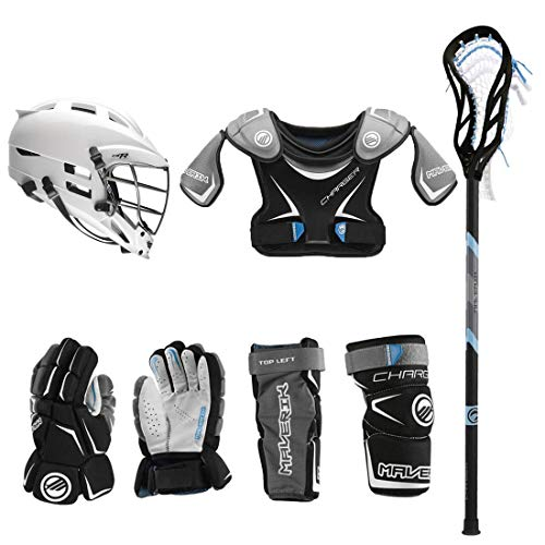 Lacrosse Unlimited Maverik Charger EKG Youth Starter Set W/Complete Stick (Cascade CS-R) (Youth Medium)