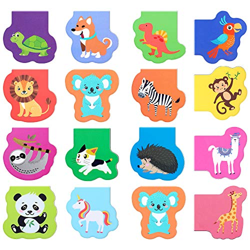 60 Pieces Cute Animal Magnetic Bookmarks Magnet Page Markers Cartoon Page Clips Bookmark for Student Office Reading Stationery Rewards Supplies
