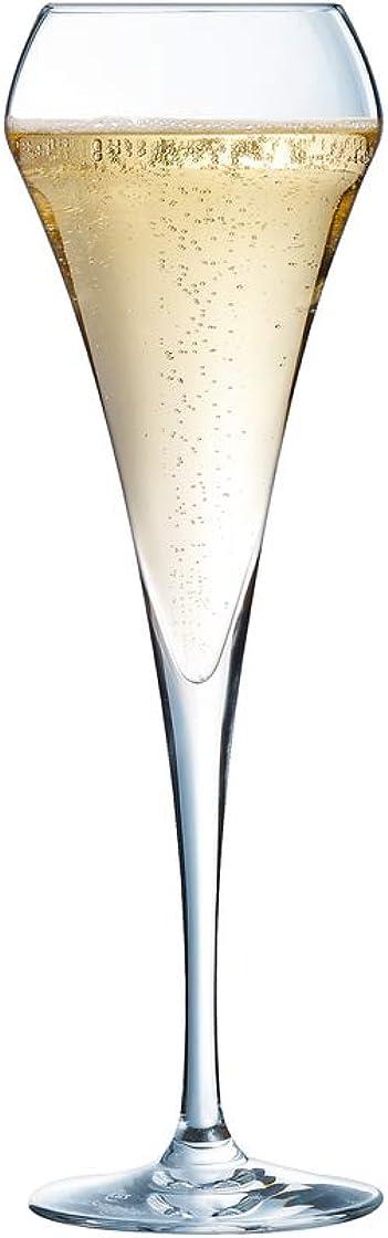 Bicchieri flûte,per spumanti champagne da 200 ml,senza riferimento per il riempimento,6 pezzi chef & sommelier 8011778.0