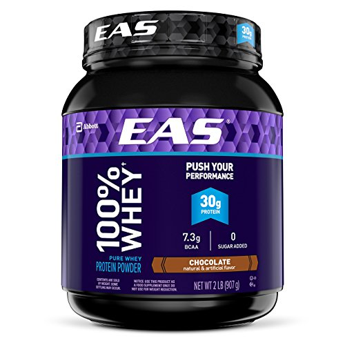 EAS 100% Pure Whey Protein Powder, Chocolate, 2 lb (Packaging May...