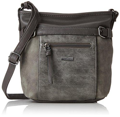 TOM TAILOR Umhängetasche Damen Juna, Grau (Grau), 7.5x24x26 cm,, TOM TAILOR Handtaschen, Taschen für Damen, klein