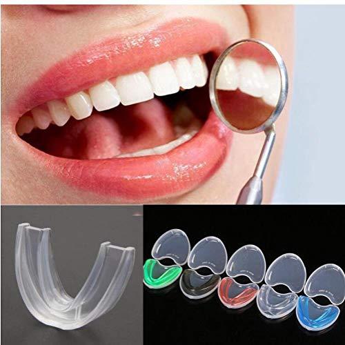 Angoter Dental-Mundschutz Bruxismus Splint Nacht Zahn-Zahn-Schleifen Schlaf-Beihilfen Werkzeug zufällige Farbe