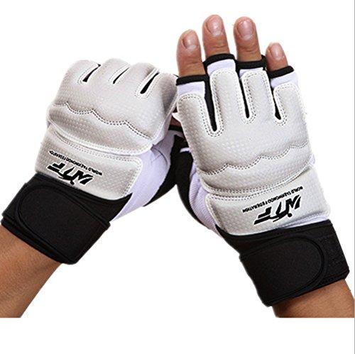 Wonzone Half Finger Taekwondo Training Boxing Gloves, Taekwondo/Muay Thai Training/Punching Bag Gym Half Mitts Sparring Gloves (L)