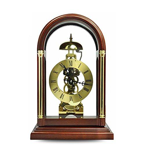 MYITIAN Polaris klok bureau klok Europese moderne kleine mechanische klok massief hout klok vintage creatieve ornamenten nachtkastje