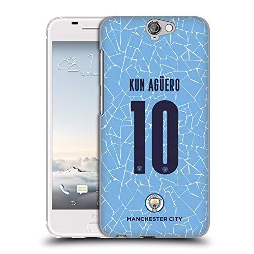 Head Case Designs Licenciado Oficialmente Manchester City Man City FC Sergio Agüero 2020/21 Jugadores Inicio Kit Grupo 1 Carcasa rígida Compatible con HTC One A9