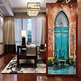 Película decorativa para ventana, edificio antiguo de Venecia con entrada de puerta antigua,...