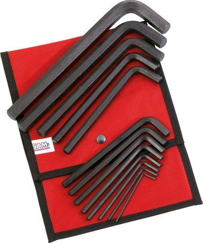 SAM Outillage 62-TR13 Jeu de 13 clés males courtes 6 pans de 3 à 19 mm en trousse