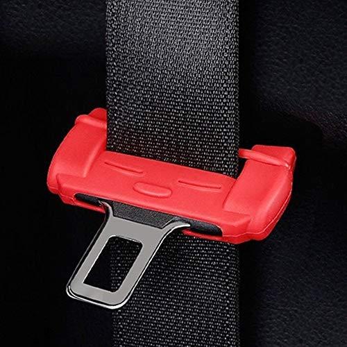 IUFINUEN Universal de coche de seguridad hebilla de cinturón protector de silicona resistente a los arañazos del cinturón de la hebilla del clip del botón interior de la carcasa resistente a los araña