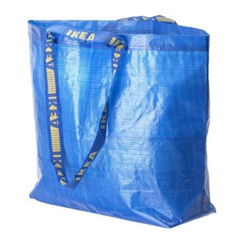 3x FRAKTA–Blau Medium Shopping, Wäschesack Set von 3