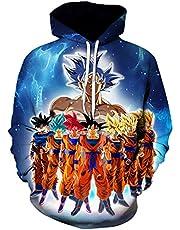 Chaos World Heren Anime Pattern Pullover met Lange Mouwen Capuchon Sweatshirt