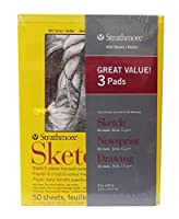 Strathmore 3パッドアートセット スケッチ、新聞、描画パッド