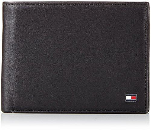 Tommy Hilfiger Eton CC Flap And Coin Pocket, Portafoglio Uomo, Nero (Schwarz (Black 990), 13x10x2 cm (B x H x T)