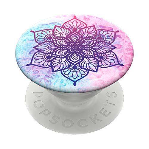 PopSockets PopGrip - Soporte y Agarre para Teléfonos Móviles y Tabletas con un Top Intercambiable - Rainbow Nirvana