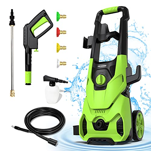 PAXCESS Electric Pressure Washer 3000 PSI Max 2.5 GPM High Pressure Power Washer Surface Cleaner with 4 Spray Nozzle and Foam Cannon for Car, Home, Driveway, Patio