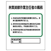 【356-18】作業主任者職務板 林業架線…