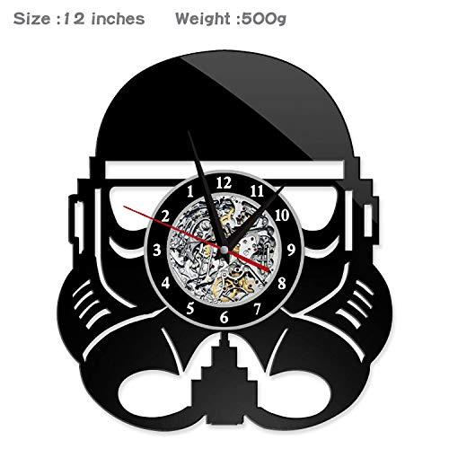 Gunchkb retro-horloge, wisselende zeven kleuren, stalen kruiwagen