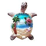 Imán de nevera 3D de tortuga de mar Hurghada Egipto imán rojo recuerdo regalo decoración magnética colección