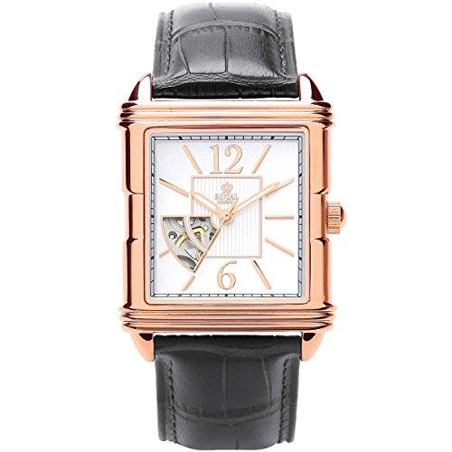Royal London Hombre Reloj de Pulsera Skeleton Rose Gold 41170–03automático
