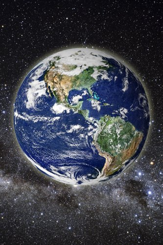BEAUTIFUL PIC OF EARTH FROM SPACE POSTER clear SCIENTIFIC educational 24X36