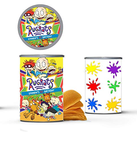 12 Personalized Rugrats Pringles Label | Rugrats Party Supplies | Rugrats Birthday Party | Custom Pringles Labels | Rugrats Birthday Party Supplies | Rugrats Party Favors | 1.3 oz