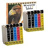 Cartuchos de Tinta Cartuchos de impresora (No Original) para Epson D68D68PE D88D88plus D88PE DX 3800DX 3850DX 4200DX 4250DX 4800DX 4850, color 10er Set (B/C/M/Y)