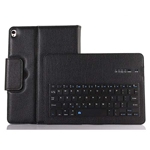 XUAILI Tablet Keyboard Case Bluetooth 3.0 Litchi Texture ABS Detachable Bluetooth Keyboard Leather Case, for IPad Air/Pro 10.5 Inch (2019), with Holder (Color : Black)