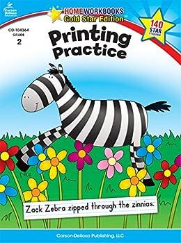 Paperback Printing Practice, Grade 2 (Home Workbooks) Book