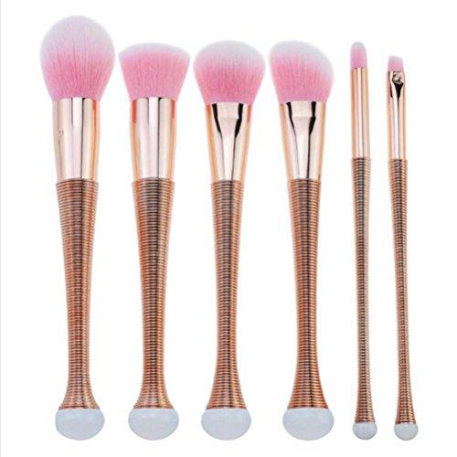 FUHOAHDD Pincel Maquillaje 6 Piezas Maquillaje Conjunto