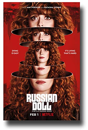 Russian Doll Poster TV Show Promo 11 x 17 inches Heads Dying is Easy Its Living Thats Hard Netflix
