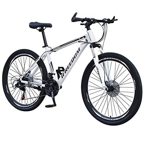 Mountainbikes 26 Zoll Fahrrad mit Gabelfederung & Beleuchtung 21-Gang Scheibenbremsen Hardtail MTB, Trekkingrad Herren Bike Mädchen-Fahrrad, Vollfederung Mountain Bike