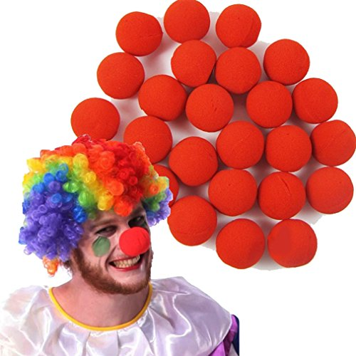 Deal Special Tm 50pcs HOT Red Sponge Circus Foam Clown Nose for Wedding Party Halloween Carnival Costume Activity by Deal Special