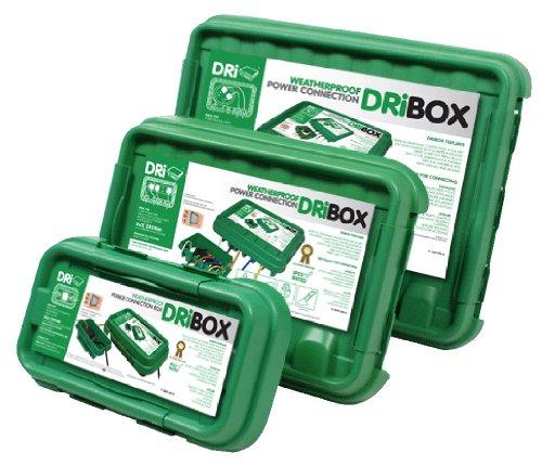 Schwarz wetterfest 3 St/ück DRiBOX FL-1859-B3 IP55 Kabelschutzbox