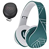 PowerLocus Bluetooth Over-Ear Headphones, Wireless Stereo Foldable Headphones Wireless and Wired Headsets with Built-in Mic, Micro SD/TF, FM for iPhone/Samsung/iPad/PC (Blue)