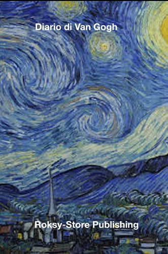 Diario di Van Gogh: Notte Stellata Taccuino 15.24 CM X 2 2.86 CM, Linee Nere su Carta Bianca - Arte Classica | Grafica vintage retrò | Per uomini e ... | Grafica vintage retrò | Per uomini e Donne